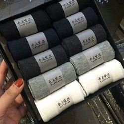 Combo 10 hộp tất chống thối nam cổ ngắn 100 đôi giá sỉ, giá bán buôn