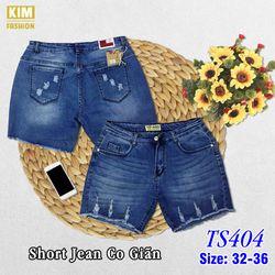 Quần Short Jean Bigsize Co Giãn TS404 size 32-36 giá sỉ