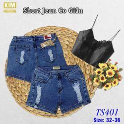 Quần Short Jean Bigsize Co Giãn TS401 size 32-36 giá sỉ