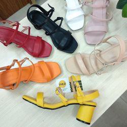 Giày sandal cao 5 phân ST05 bảng ngang phối dây mảnh khóa
