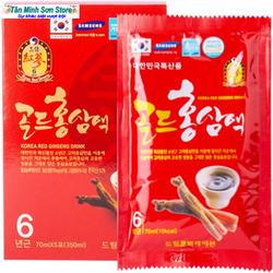 15k/gói Nước Hồng sâm Hàn Quốc Dream gói 70ml Sản phẩm có tác dụng tăng cường sinh lực giảm cholestorol chống lão hóa đặc biệt sản phẩm còn giúp hỗ trợ phục hồi nhanh chóng cho các bệnh nhân ung thư hỗ trợ điều trị các bệnh tiểu đường tim mạch giá sỉ
