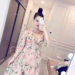 Đầm Xòe In Hoa 3 Tầng Siêu Xinh Giá Sỉ Rẻ Nhất TpHCM - VN giá sỉ