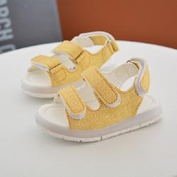 Giày Sandal cho bé trai đèn led 02 màu vàng giá sỉ