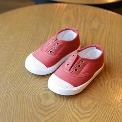 Giày thể thao cho bé trai và bé gái không dây 05 đỏ giá sỉ