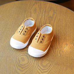 Giày thể thao cho bé trai và bé gái không dây 05 màu vàng giá sỉ