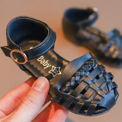 Giày Sandal cho bé gái Rọ 05 đen giá sỉ