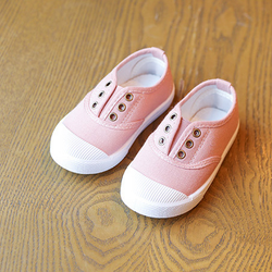 Giày thể thao cho bé gái không dây màu hồng giá sỉ