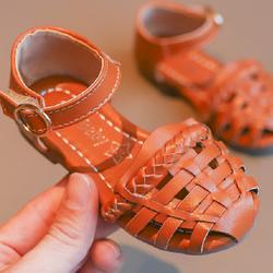 Giày Sandal cho bé gái 05 nâu bò giá sỉ