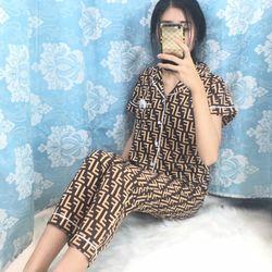Đồ bộ mặc nhà pyjama tay ngắn quần dài nhiều màu giá sỉ