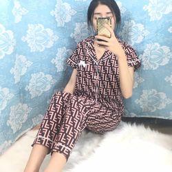 Đồ bộ mặc nhà pyjama tay ngắn quần dài nhiều màu giá sỉ, giá bán buôn