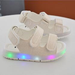 Giày Sandal cho bé trai đèn led 02 màu trắng giá sỉ