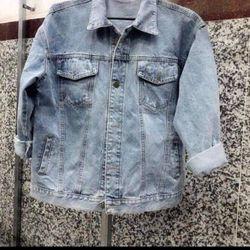 Áo khoác jean nam xanh trơn thời trang giá sỉ, giá bán buôn