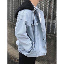 Áo khoác jean nam nón thun nỉ kiểu Hàn Quốc giá sỉ