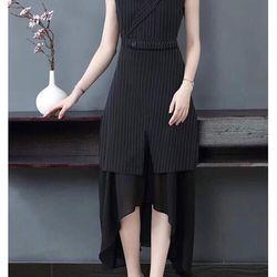 Đầm xòe cổ vest sang chảnh QC giá sỉ, giá bán buôn