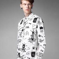 áo sơ mi nam họa tiết sm6
