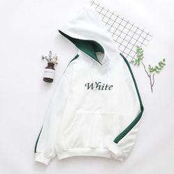 Áo khoác nữ hoodie nỉ phối sọc tay đẹp 2018 giá sỉ