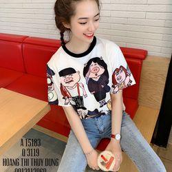 áo thun nữ hoạt hình heoáo thun unisex giá sỉ, giá bán buôn