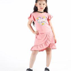 Bộ áo và chân váy bèo bé gái Ninh Khương - Sun Moon