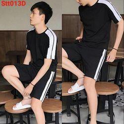 Set bộ đồ quần áo thể thao nam mùa hè thun mè cực mát DT2S giá sỉ