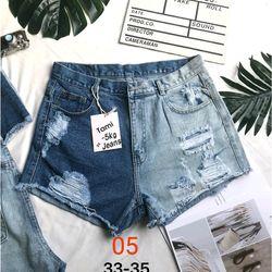 Quần Short jean nữ rách size đại giá sỉ