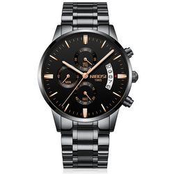 Đồng hồ Nibosi 2309 fullbox đen-kim vàng giá sỉ