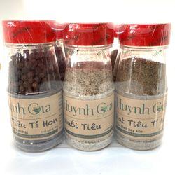 Lốc 9 hũ gia vị gồm 3 hũ muối tiêu 3 hũ tiêu đen nguyên hạt 3 hũ tiêu đen xay sẵn giá sỉ