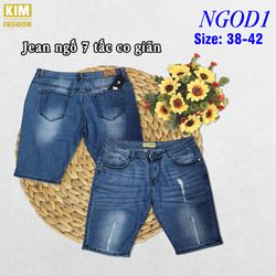 Quần Jean Ngố 7 Tấc Co Giãn Bigsize NGOD1 size 38-42 giá sỉ