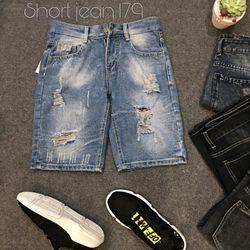 Quần Short Jean Nam 179 thời trang chuyên sỉ jean 2KJean giá sỉ
