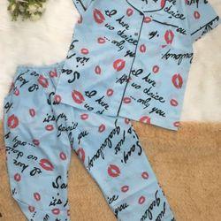 Bộ mặc nhà – Pijama tay ngắn quần dài HT môi giá sỉ