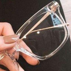 mắt kính gọng dẻo trong suốt dùng đeo thời trang hoặc cắt kính cận tặng bao da giá sỉ