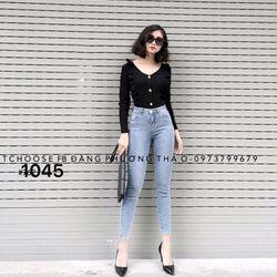 Quần jean nữ cotton co giãn 1045 chuyên sỉ jean 2KJean giá sỉ