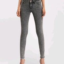 Quần jean nữ màu xám chuột thời trang chuyên sỉ jean 2KJean giá sỉ
