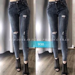Quần jean nữ cotton co giãn thời trang chuyên sỉ 2kJean giá sỉ