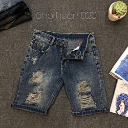 Quần Short Jean Nam 020 thời trang chuyên sỉ jean 2KJean giá sỉ