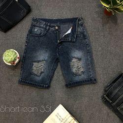 Quần Short Jean Nam rách thời trang chuyên sỉ Jean 2KJean giá sỉ