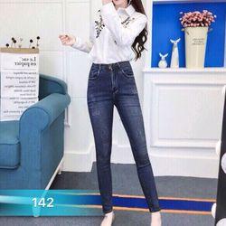 Quần jean nữ cotton co giãn 142 thời trang chuyên sỉ jean 2KJean giá sỉ