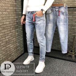 Quần jean nam cào nhẹ xanh trơn 5678 chuyên sỉ jean 2KJean giá sỉ