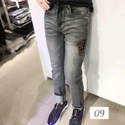 Quần jean nam thêu ms09 thời trang chuyên sỉ jean 2KJean giá sỉ