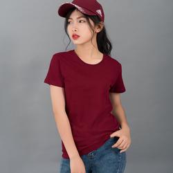 Áo thun trơn nữ 100 cotton đỏ đô giá sỉ, giá bán buôn