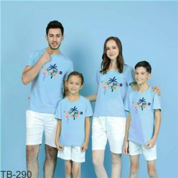 áo thun gia đình năng động ngày hè 5 giá sỉ