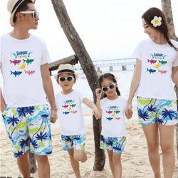 áo thun gia đình năng động ngày hè 6 giá sỉ