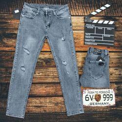Quần jean đại 32-36 thời trang xám rách giá sỉ