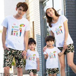 áo thun gia đình năng động ngày hè 12 giá sỉ