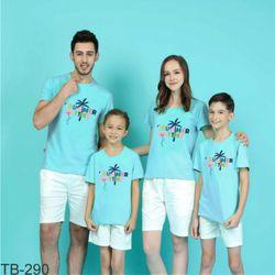 áo thun gia đình năng động ngày hè 13 giá sỉ