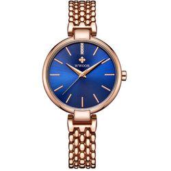 Đồng hồ WWOOR nữ dây thép 8865 xanh giá sỉ
