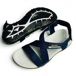 Giày SANDAL quai hậu nam kiểu dáng thời trang - Xanh đen - A803 giá sỉ