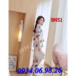 Bộ ngủ nữ Pijama quần dài tay ngắn BN5DA - giá sỉ tốt nhất thị trường