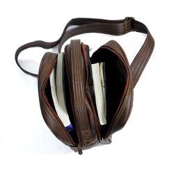 Túi Da Đeo Chéo CNT Unisex MQ16 Nâu giá sỉ, giá bán buôn