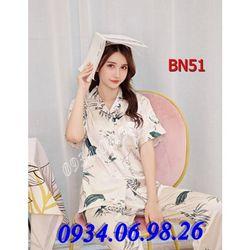 Bộ ngủ nữ Pijama quần dài tay ngắn BN51TR - giá sỉ tốt nhất thị trường giá sỉ