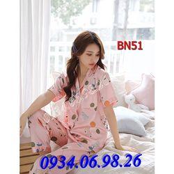 Bộ ngủ nữ Pijama quần dài tay ngắn BN51PH - giá sỉ tốt nhất thị trường